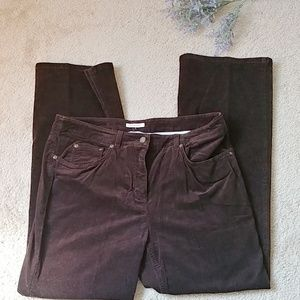 Jones New York pants stretch brown corduroy 14